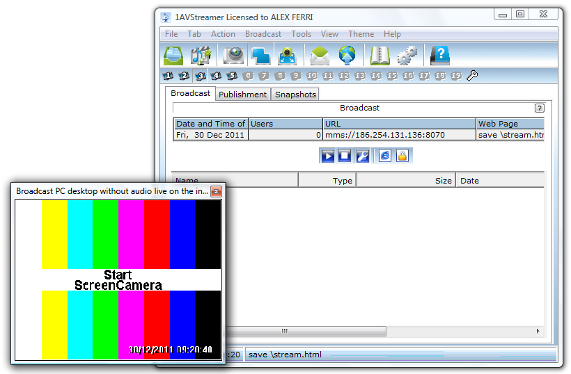 pcwinsoft,1AVStreamer,ScreenCamera