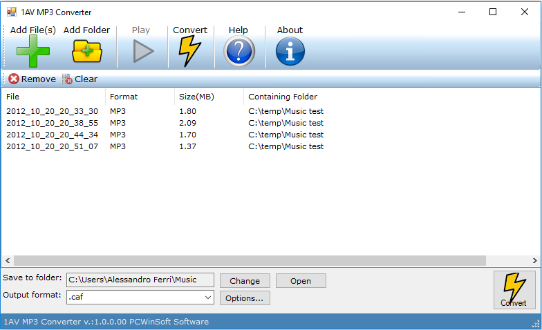 1AV MP3 Converter full screenshot