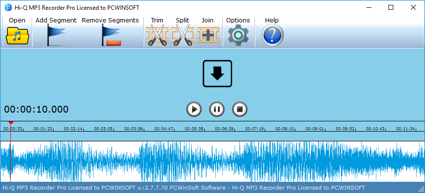 1AV Sound Recorder: sound recorder software for pc, audio recorder
