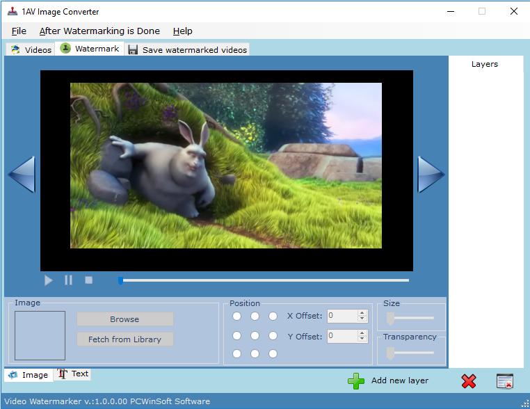 Video Watermarker: video watermark software, watermark movie