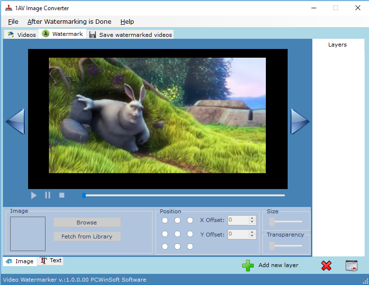 Click to view Video Watermarker 1.0.2.20 screenshot